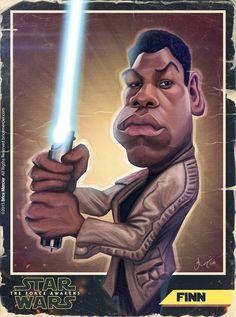 Caricature de John Boyega par Brice Mercier