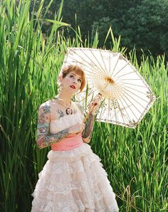 Vintage, Floral and a Tattooed Bride