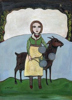 Goat Woman Art by Ann Willey