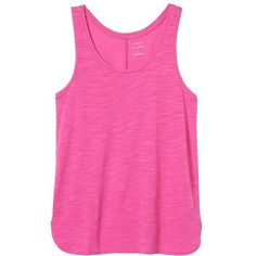 Banana Republic Women Factory Malibu Tank ($25) ❤ liked on Polyvore featuring tops, pink tank top, pink tank, pink top, banana republic and scoop neck tank top