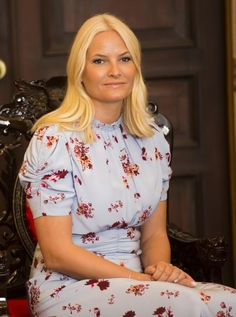 e7b66ace Crown Princess Mette-Marit saved her most colourful dress til the last day  of the official visit to Vietnam.