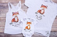 Matching Family Shirts, Mommy and Me Outfit, Fox Onesie®, Daddy and Me Outfit by LittleFoxNest on Etsy https://www.etsy.com/listing/476379014/matching-family-shirts-mommy-and-me