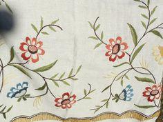 Vintage Crewel Embroidery Bed Spread Lots by Daysgonebytreasures