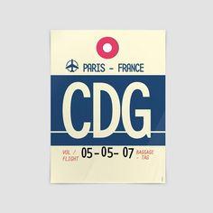 CDG - Charles de Gaulle Airport - Paris, France - Poster