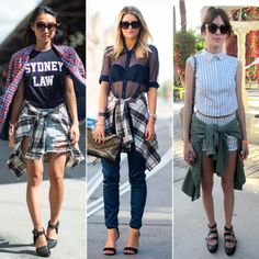 90s is so not dead! Think plaids, leather jacket and ripped denim. #trends #fashion #style