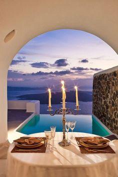 Santorini, Greece - The Most Romantic Getaway Destinations on Pinterest - Photos