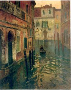 Frits Thaulow, Norwegian (1847-1906)  On Canal