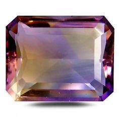 Ametrine 110786: 13.76 Ct Aaa Eye-Popping Octagon Shape (17 X 13 Mm) Purple And Yellow Ametrine -> BUY IT NOW ONLY: $54.99 on eBay!