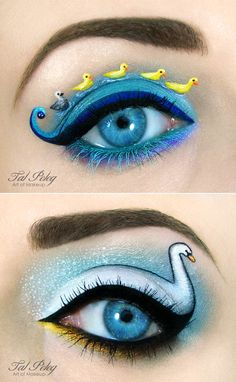A selection of creativeeyes makeupbyTal Peleg, aka Scarlet Moon, an Israeli artist inspired by fairy tales, but also superheroes like Kick-Ass or TV shows