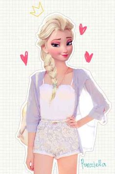 This Is What Disney Characters Would Look Like In The Modern World. The end with Flynn is my favorite!