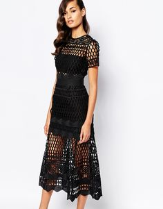 Self Portrait Cutwork Layered Dress zero places to wear this but wow