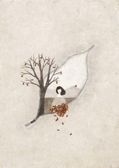 (c) Akira Kusaka Art Drawings Beautiful, Simple Illustration, Illustrations And Posters, Autumn Inspiration, Graphic, Akira, Contemporary Artists, Design Art, Art Projects