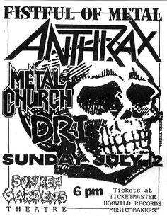 My first Anthrax show!!