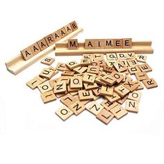 Package includes:2 SET wood Scrabble tiles and TWO Scrabble Racks Lot * Each set uses the standard tile distribution for the game: A-9, B-2, C-2, D-4, E-12, F-2, G-3, H-2, I-9, J-1, K-1, L-4, M-2, N-6, O-8, P-2, Q-1, R-6, S-4, T-6, U-4, V-2, W-2, X-1, Y-2, Z-1, and 2 Blanks. * Wooden scrabble rack replacement for Wooden scrabble game * Scrabble rack size is 19 x1.8x 2.5cm or 7.5 x0.7x1 inch * (Placed within the Amazon Associates program) * 11:49 Mar 16 2017