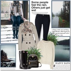 A fashion look from October 2016 by lilly-2711 featuring Isabel Marant, Burberry, Frame Denim, Hunter и Kershaw