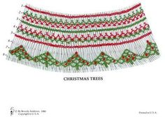 Christmas Trees geometric smocking design plate for bishop smocking by Beverly Andrews available at www.chadwickheirlooms.com