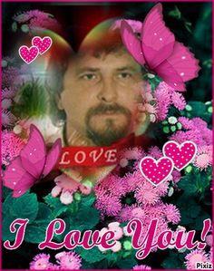 Pixiz - Różowe serca i motyle kocham cię - Bezpłatne framework nie.1005