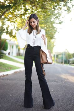 High-waisted trousers: 60 suggestions for comfortable and devastating looks - Outfit Trends Look Fashion, Girl Fashion, Autumn Fashion, Classy Fashion, Chic Outfits, Fall Outfits, Fashion Outfits, Swag Fashion, Fashion Pants