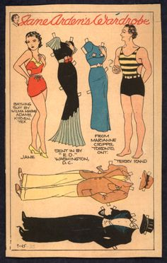 9-25-35 Jane Arden paper doll with Terry Rand and Jane / eBay