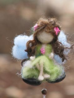 Needle felted waldorf inspired little magic fairy by Made4uByMagic
