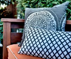 Use weather resistant pillows to extend your square footage with an outdoor living area!