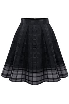 5d5245c76b59 Plain Plaid High Waist Mesh Insert Midi Skirt See Through, Mesh, Elegant,  Women's