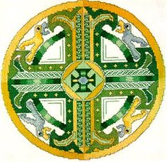 Celtic Emerald Cross - Cross Stitch Pattern. I finished this one now! Only problem is, which way is up?