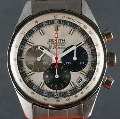 """Zenith 1969 """"El Primero"""" - also claimed as the first automatic chronograph"""