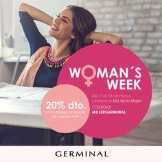 ¡Te regalamos un 20% de descuento en todos los productos Germinal! Sólo en la web germinal.es  Hasta el 10 de marzo, introduce el código  ▶️ MUJERGERMINAL  ◀️ al realizar tu compra en nuestra web y ahórrate un 20%. Porque vas a estar guapísima, porque te lo mereces, porque está al caer la primavera y... ¡porque nos apetece! :)  #moda #belleza #promo #promocion #cosmetica #Germinal #ampollasflash #ácidohialurónico #colágeno #dermocosmetica