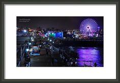 Santa Monica Framed Print featuring the digital art Santa Monica Pier 5 by Gandz Photography