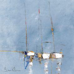 L'oeuvre unique et originale Marine F4.1 a été réalisée par l'artiste Bruno Klein, qui peint des oeuvres a la frontière entre abstrait et figuratif, représentant souvent des paysages.