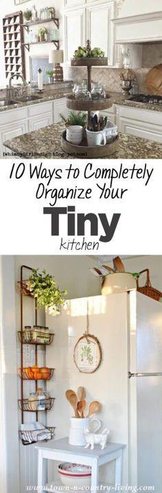 10 Ways to Completely Organize Your Tiny Kitchen - Organization Junkie