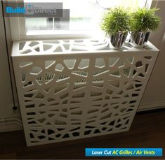 Corian cover for radiator! There are so many amazing things you can create with corian! Hippie Home Decor, Diy Home Decor, Room Decor, Home Radiators, Radiator Cover, Corian, Home Living Room, Home Projects, Diy Furniture