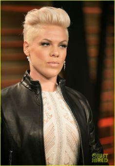 Pink at the 2014 Vanity Fair Oscar Party