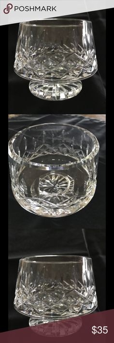 """Waterford Crystal Waterford Crystal footed sugar bowl beautiful piece 3-3/8"""" tall 3-1/4"""" wide at top Waterford Crystal Other"""