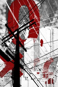 Urban Grunge Red by Melissa Smith – Urban Art District. | Allow your personality to shine through your choice in art.  Complement your decor with an edgy design that speaks to the heart and soul of your inner being.  Blow it up big to make a statement, or frame it small to enhance your simplistic style.  SHARE if you ♥ it!