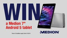 """Medion 7"""" Android 5 Tablet competition - Winner: Bob Scott"""