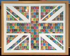 Union Jack made out of definitive stamps