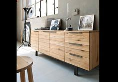 enfilade 4 portes 1 tiroir rubis coloris acacia vente. Black Bedroom Furniture Sets. Home Design Ideas