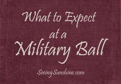 All about my first military ball experience - to help those of you who haven't been before better understand what to expect.