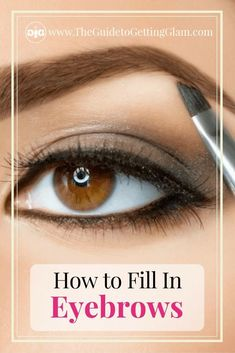Makeup tips for how to fill in eyebrows. This technique will teach you how to fill in your eyebrows with pencil and powder for the most natural look. Best Eyebrow Makeup, Eyebrow Styles, Best Makeup Tips, Best Eyebrow Products, Eyebrow Pencil, Eye Makeup, Makeup Kit, Makeup Ideas, Makeup Products