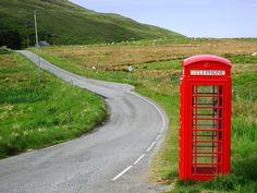 Phone cabins are everywhere, even on the Trotternish Peninsula