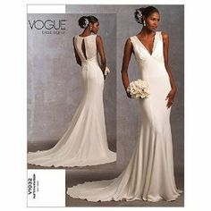 "Vogue V1032 Bridal Original 1930's Inspired Women's Wedding Dress SEWING PATTERN Size A(6-8-10) Bust Measurement: 77 TO 83cm (30.5 -31.5- 32.5"") All Sizes Included English and French Instructions. (New Pattern). by Vogue, http://www.amazon.co.uk/dp/B00AHX35WU/ref=cm_sw_r_pi_dp_xzzxrb1CJ8M71"
