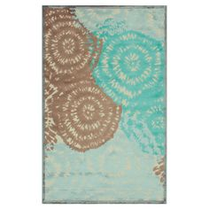 Art silk and chenille rug with a contemporary floral motif.  Product: RugConstruction Material: Art silk and che...