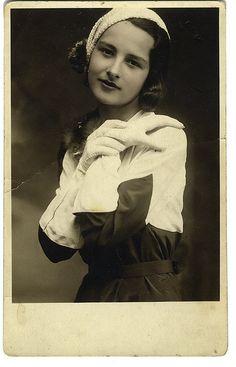 Serbian girl in 1932.