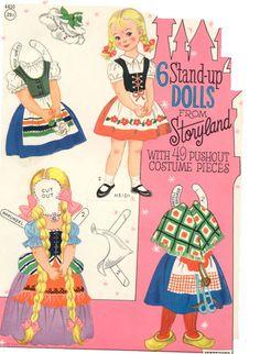 Kathleen Taylor's Dakota Dreams: Thursday Tab- 6 Stand-Up Dolls from Storyland