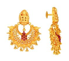 Gold antique earrings from malabar gold diamonds earrings jos alukkas jewellery alukkas alukkas jewellery aloadofball Images