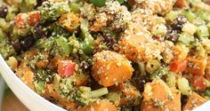 Broccoli Hemp Potato Salad (sounds yummy, just need to think of a good sub for the veganaise)