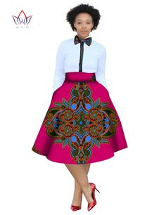 2017 christmas dress Plus Size 2 Pieces African Print Dashiki Shirt Skirt Set Bazin Rche Femme Africa Clothing natural African Dresses For Kids, African Clothing For Men, Latest African Fashion Dresses, African Print Fashion, Africa Fashion, African Prints, Ethnic Fashion, Womens Fashion, African Attire
