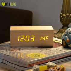 Fair price Wood LED Alarm Clock Sounds Control Temperature Calendar LED Display Electronic Desktop Digital Table Clock For Home Decoration just only $12.94 - 13.09 with free shipping worldwide  #clocks Plese click on picture to see our special price for you